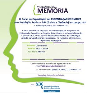 IX Curso de Capacitação em Estimulação Cognitiva com Simulação Prática – EaD